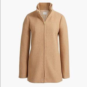 NWT J Crew Factory Village coat in heather acorn